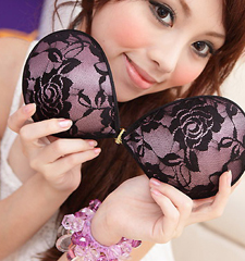 Luxury Adhesive Fabric Stick On Bra - Purple Rose Limited Edition